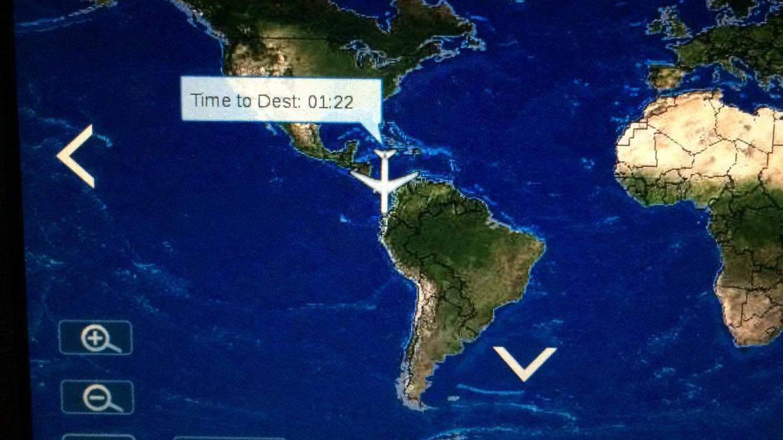 ただいま南米上空~