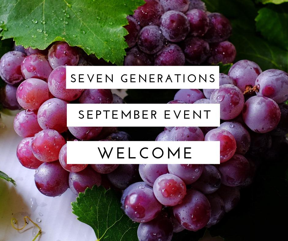 9月♡セブン・ジェネレーションズ関連イベント情報